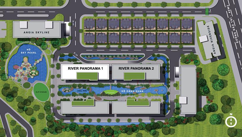 Mặt bằng dự án căn hộ chung cư River Panorama Quận 7 Đường 89 Hoàng Quốc Việt chủ đầu tư An Gia Investment