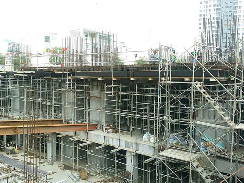 Tiến độ căn hộ River Panorama tháng 8.2018 - Đang hoàn thiện phần hầm móng