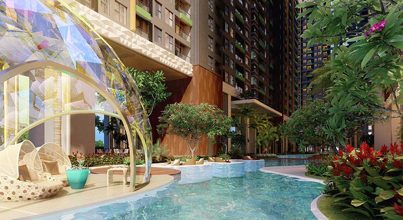 Tiện ích dự án căn hộ chung cư River Panorama Quận 7 Đường 89 Hoàng Quốc Việt chủ đầu tư An Gia Investment
