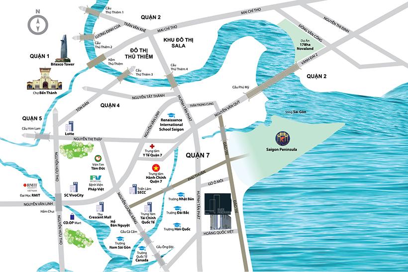 Sơ đồ vị trí căn hộ River Panorama Quận 7 - Đăng ký tham quan căn hộ River Panorama 0909.509.679
