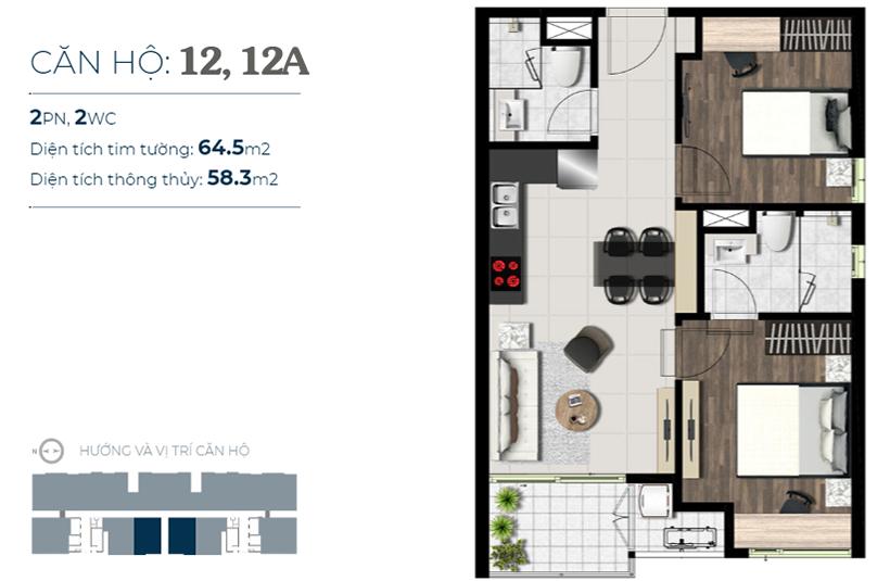 thiết kế căn hộ sky89