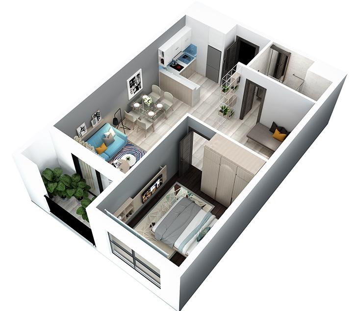 thiết kế căn hộ Hà Đô Centrosa Garden Quận 10