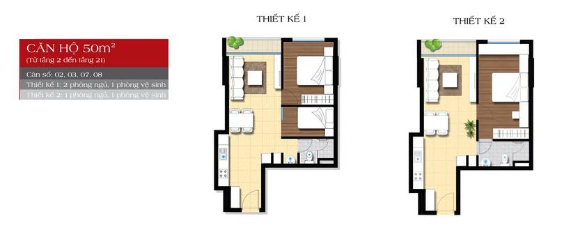 thiết kế căn hộ angia star bình tân 50m2