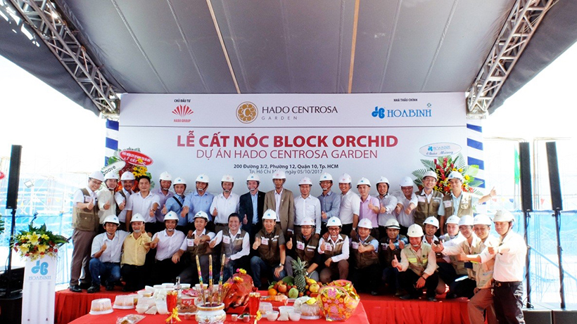 HaDo Centrosa Garden cất nóc Block Orchid vượt tiến độ 3 tháng