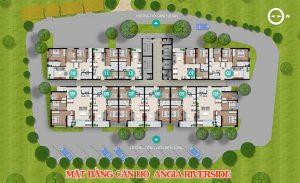 Mặt bằng thiết kế dự án căn hộ An Gia Riverside Quận 7