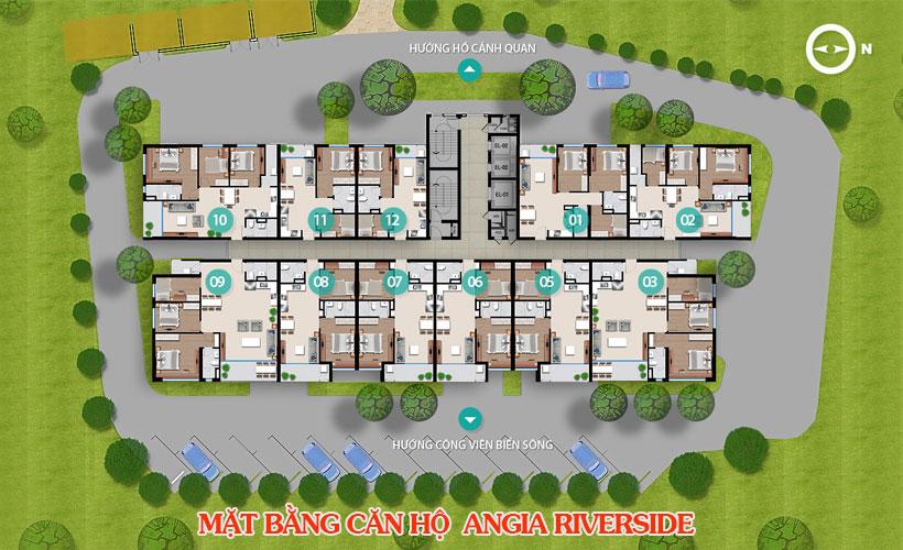 Mặt bằng dự án căn hộ chung cư An Gia Riverside Quận 7 Đường Đào Trí chủ đầu tư An Gia Investment
