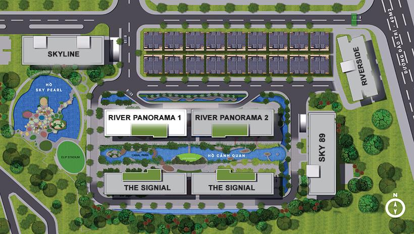 Mặt bằng tổng thể dự án căn hộ chung cư Sky 89 Quận 7 Đường Hoàng Quốc Việt chủ đầu tư An Gia
