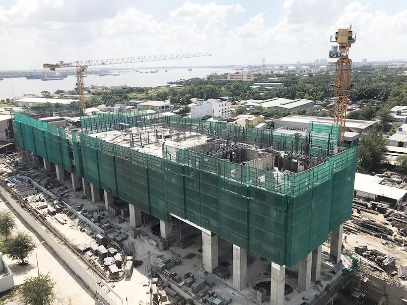 Cập nhật tiến độ xây dựng dự án căn hộ chung cư River Panorama đường Hoàng Quốc Việt Quận 7 chủ đầu tư An Gia tháng 2.2019