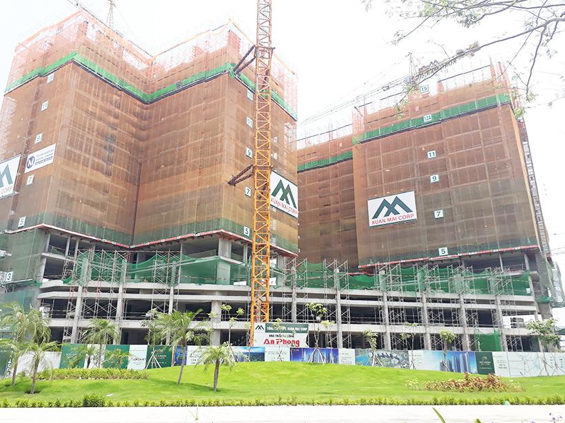 Tiến độ dự án căn hộ chung cư Eco Green Sài Gòn Quận 7 Đường Nguyễn Văn Linh chủ đầu tư Xuân Mai