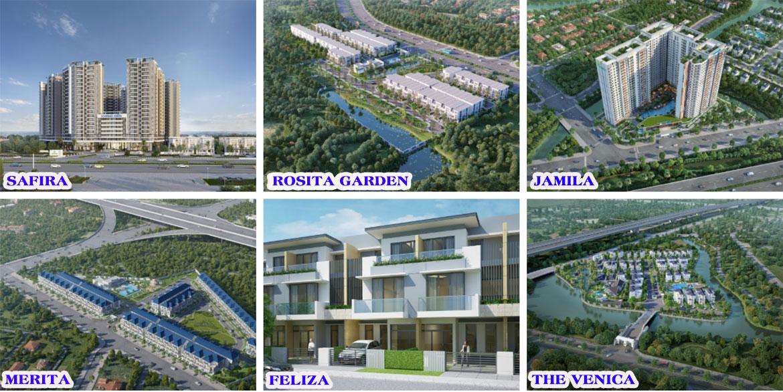 Các dự án đã và đang triển khai của Khang Điền chủ đầu tư nhà phố biệt thự Verosa Park Quận 9