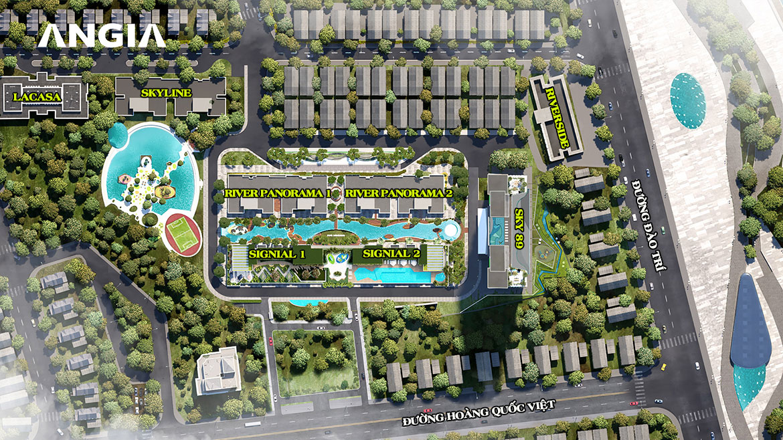 Mặt bằng dự án căn hộ chung cư River Panorama Quận 7 Đường Hoàng Quốc Việt chủ đầu tư An Gia