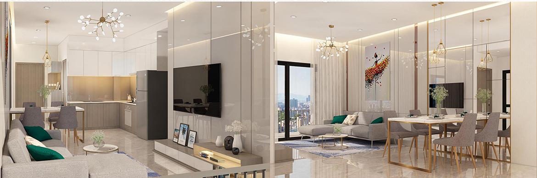 Nhà mẫu dự án căn hộ chung cư Saigon Asiana Quận 6 Đường Nguyễn Văn Luông chủ đầu tư Gotec Land