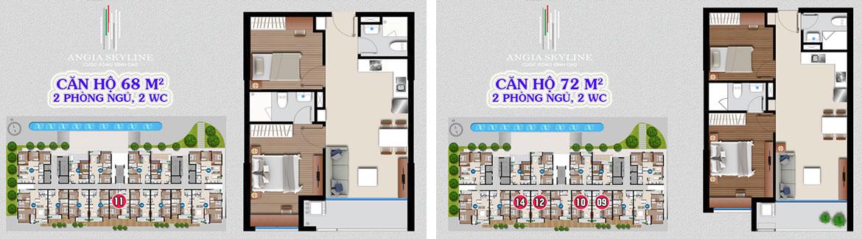 Thiết kế dự án căn hộ chung cư Skyline Quận 7 Đường Hoàng Quốc Việt chủ đầu tư An Gia