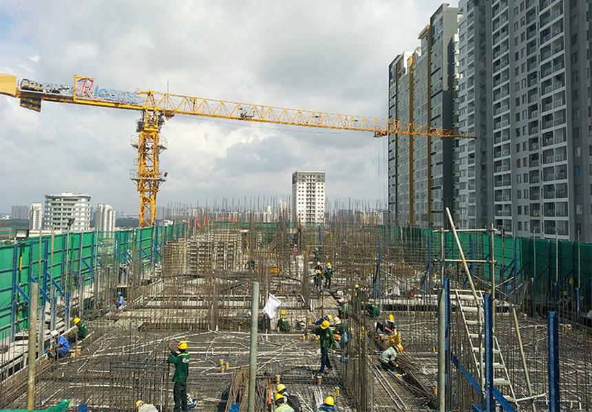 Tiến độ dự án căn hộ chung cư River Panorama Quận 7 Đường Hoàng Quốc Việt chủ đầu tư An Gia tháng 7.2019