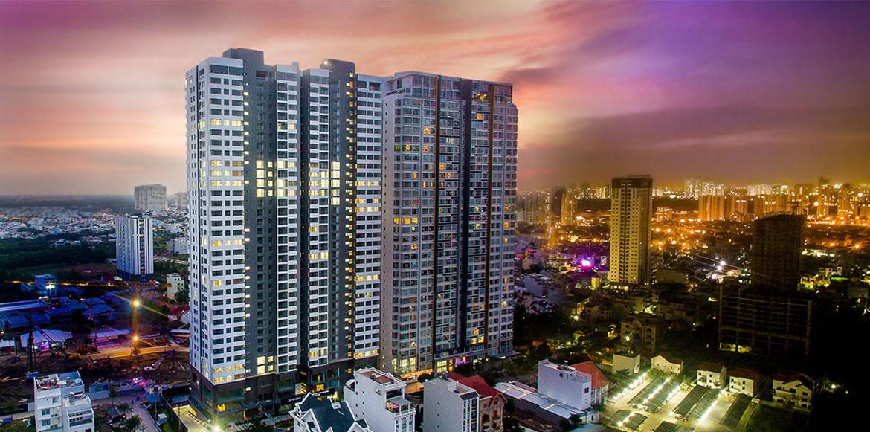 Toàn cảnh căn hộ chung cư Skyline Quận 7 Đường Hoàng Quốc Việt chủ đầu tư An Gia