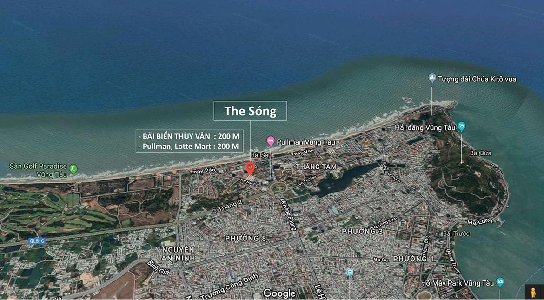 Vị trí địa chỉ dự án căn hộ condotel The Sóng Vũng Tàu
