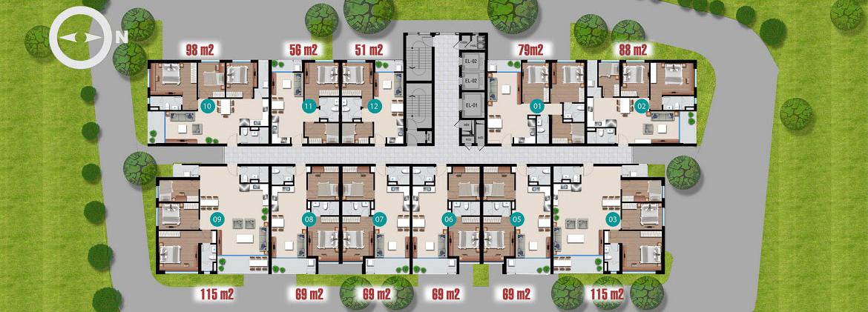 Bảng giá dự án căn hộ chung cư Riverside Quận 7 Đường Đào Trí chủ đầu tư An Gia Investment