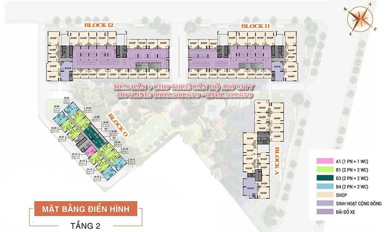 Mặt bằng dự án căn hộ chung cư AIO City Quận Bình Tân Đường Tên Lửa chủ đầu tư Hoa Lâm