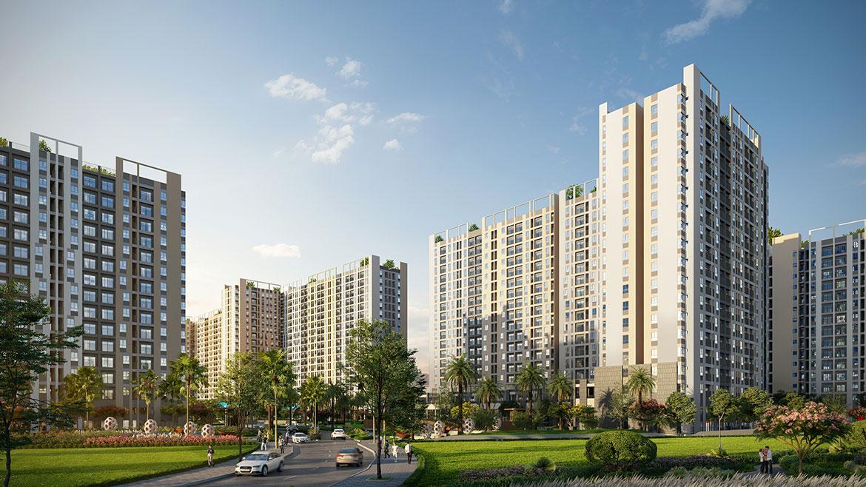 Phối cảnh dự án căn hộ chung cư PiCity High Park Quận 12 Đường Thạnh Xuân chủ đầu tư Pi Group