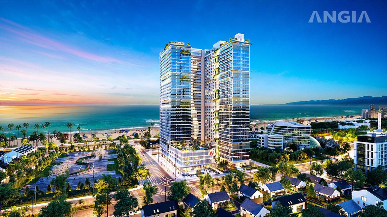 Phối cảnh dự án căn hộ The Sóng Vũng Tàu Đường Thi Sách chủ đầu tư An Gia