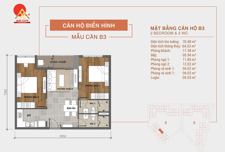 Thiết kế dự án căn hộ chung cư AIO City Quận Bình Tân Đường Tên Lửa chủ đầu tư Hoa Lâm