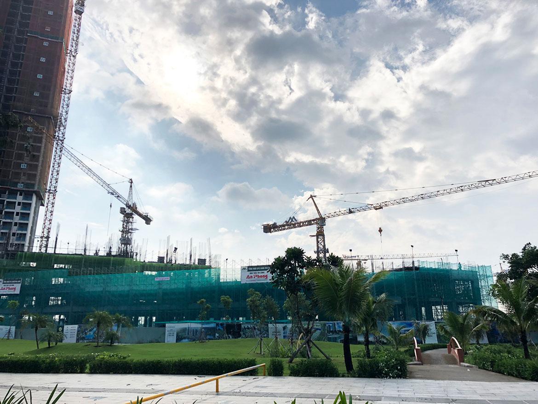Tiến độ dự án căn hộ chung cư Eco Green Sài Gòn Quận 7 Đường Nguyễn Văn Linh chủ đầu tư Xuân Mai tháng 8.2019