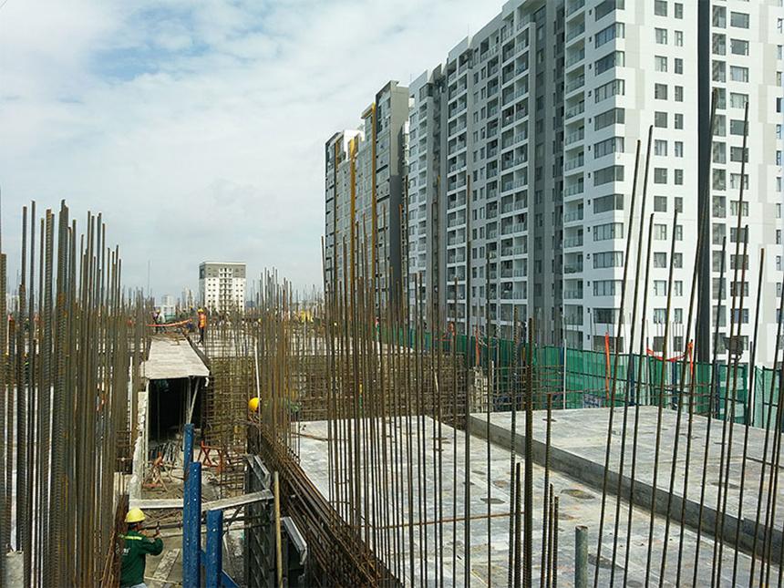 Tiến độ xây dựng dự án căn hộ chung cư River Panorama quận 7 chủ đầu tư An gia tháng 8/2019
