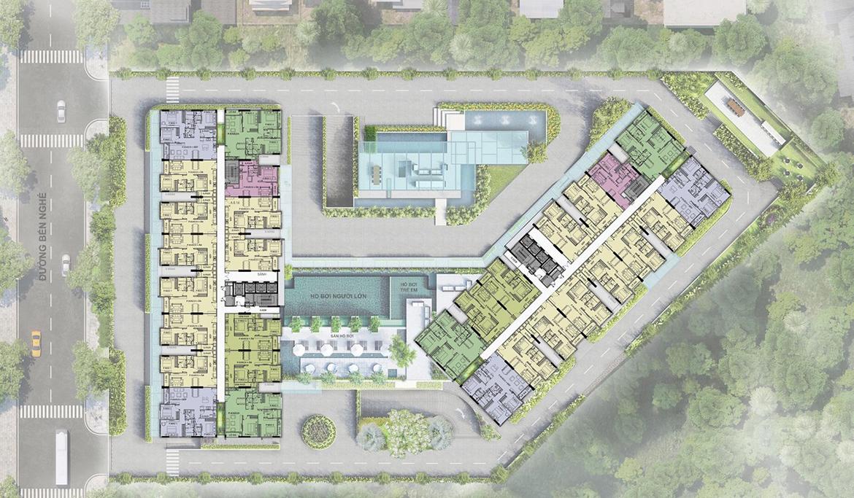 Mặt bằng dự án căn hộ chung cư Ascent Garden Homes Quận 7 Đường Bến Nghé chủ đầu tư Tiến Phát