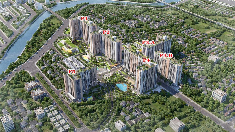 Mặt bằng dự án căn hộ chung cư PiCity High Park Quận 12 Đường Thạnh Xuân 13 chủ đầu tư Pi Group