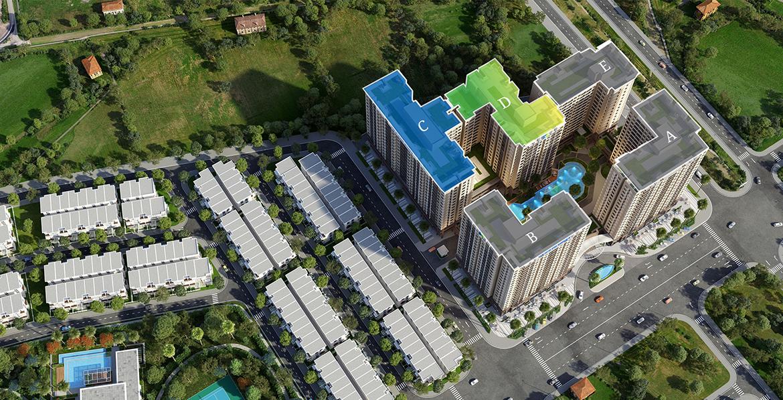 Mặt bằng dự án căn hộ chung cư West Gate Bình Chánh