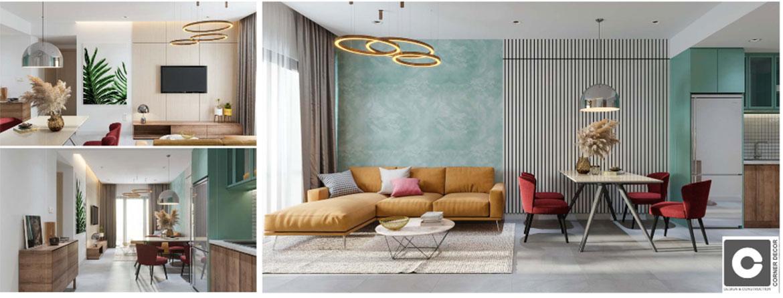 Nhà mẫu dự án căn hộ chung cư C River View Bình Dương Đường Trần Phú chủ đầu tư Quốc Cường Chánh Nghĩa