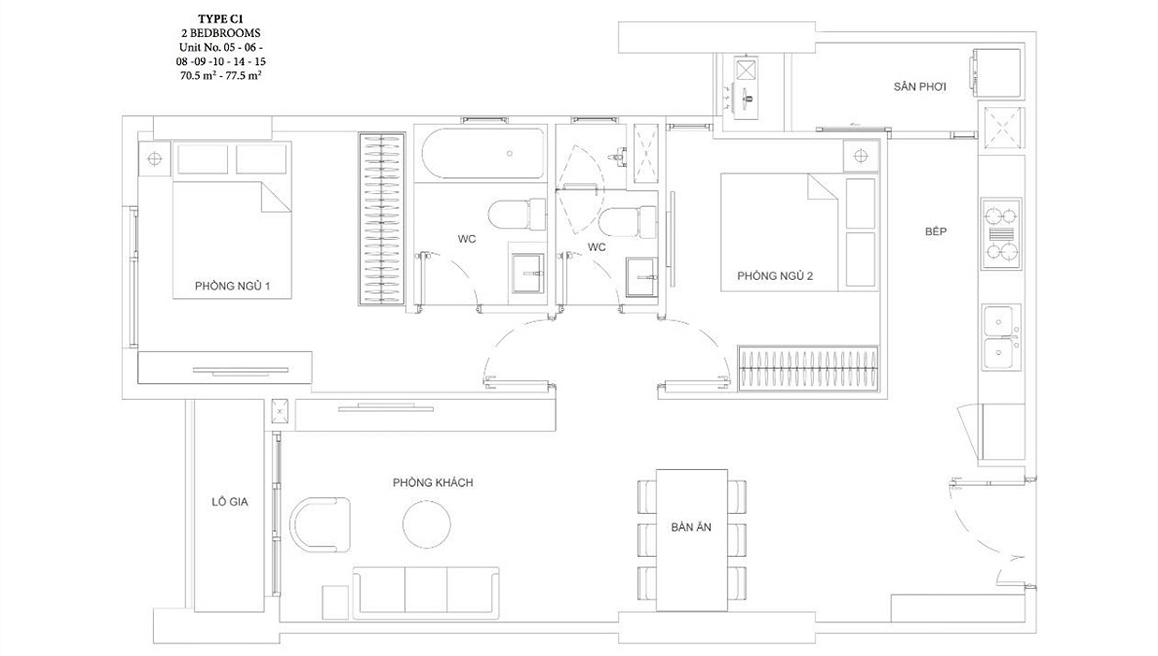 Thiết kế dự án căn hộ chung cư Ascent Garden Homes Quận 7 Đường Bến Nghé chủ đầu tư Tiến Phát