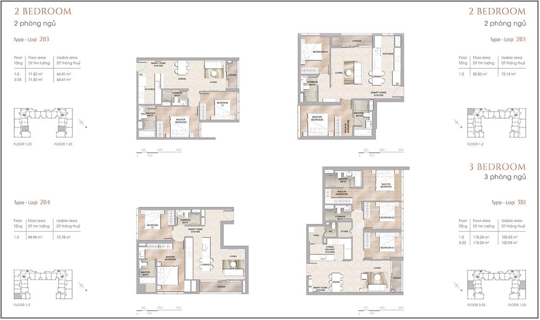Thiết kế dự án căn hộ chung cư The Marq Quận 1 Đường Nguyễn Đình Chiểu chủ đầu tư HongKong Land & Hoa Lâm