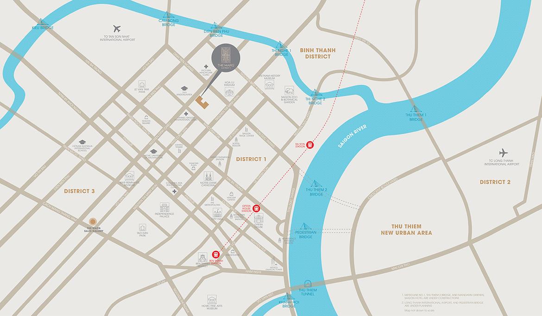 Vị trí địa chỉ dự án căn hộ chung cư The Marq Quận 1 Đường Nguyễn Đình Chiểu chủ đầu tư HongKong Land & Hoa Lâm