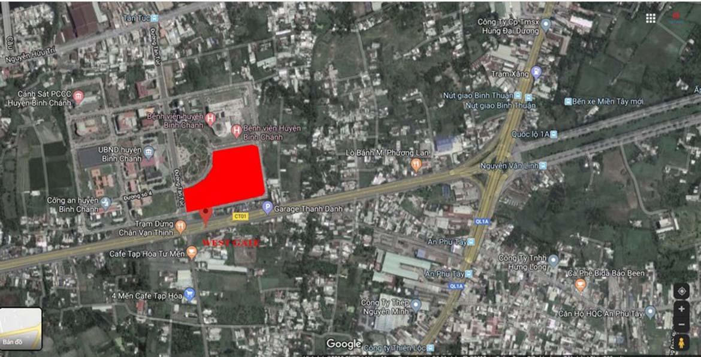 Vị trí địa chỉ dự án căn hộ chung cư West Gate Bình Chánh