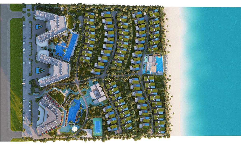 Mặt bằng dự án biệt thự nghỉ dưỡng căn hộ condotel Shantira Beach Resort Hội An