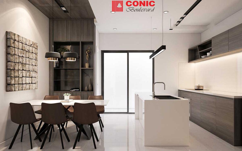 Nhà mẫu dự án căn hộ chung cư Conic Boulevard Quận 6 Mặt tiền Đại lộ Võ Văn Kiệt