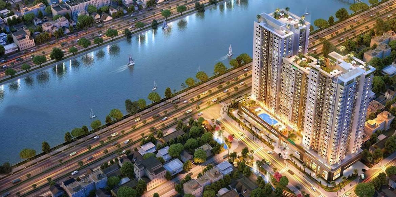 Phối cảnh dự án căn hộ chung cư Conic Boulevard Quận 6 Mặt tiền Đại lộ Võ Văn Kiệt