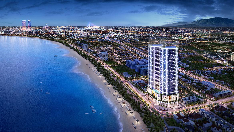 Phối cảnh dự án căn hộ chung cư Asiana Luxury Đà Nẵng Đường Nguyễn Tất Thành chủ đầu tư Gotec Land