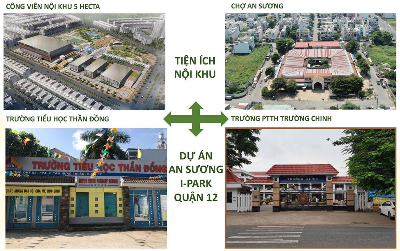 Tiện ích dự án căn hộ chung cư An Sương I Park Quận 12 Đường Khu Dân Cư An Sương chủ đầu tư HDTC