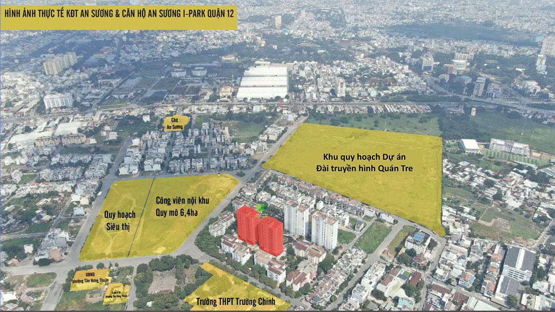 Vị trí địa chỉ dự án căn hộ chung cư An Sương I Park Quận 12 Đường Khu Dân Cư An Sương chủ đầu tư HDTC