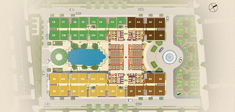 Mặt bằng dự án căn hộ chung cư Dream Home Palace Quận 8 Đường Trịnh Quang Nghị chủ đầu tư Nhà Mơ