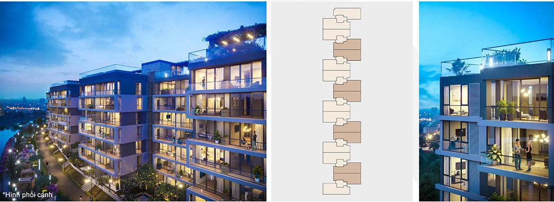 Mặt bằng thiết kế dự án căn hộ chung cư Panomax River Villa Quận 7 Đường Đào Trí chủ đầu tư TTC Land