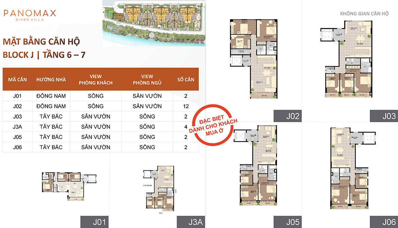 Mặt bằng dự án căn hộ chung cư Panomax River Villa Quận 7 Đường Đào Trí chủ đầu tư TTC Land