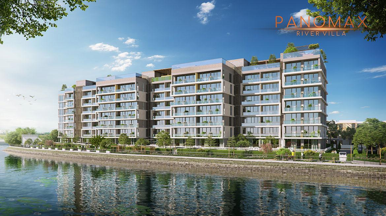 Phối cảnh dự án căn hộ chung cư Panomax River Villa Quận 7 Đường Đào Trí chủ đầu tư TTC Land