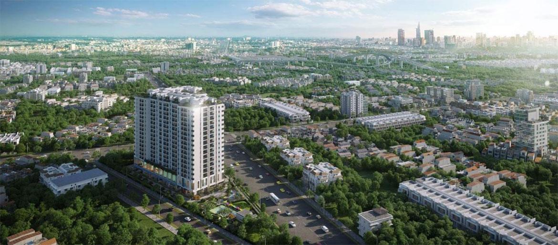 Phối Cảnh nhà phố biệt thự Ricca đường Gò Cát Phường Phú Hữu Quận 9. thành phố Hồ Chí Minh