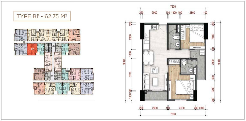 Thiết kế dự án căn hộ chung cư La Partenza Nhà Bè Đường Lê Văn Lương chủ đầu tư Khải Minh Land