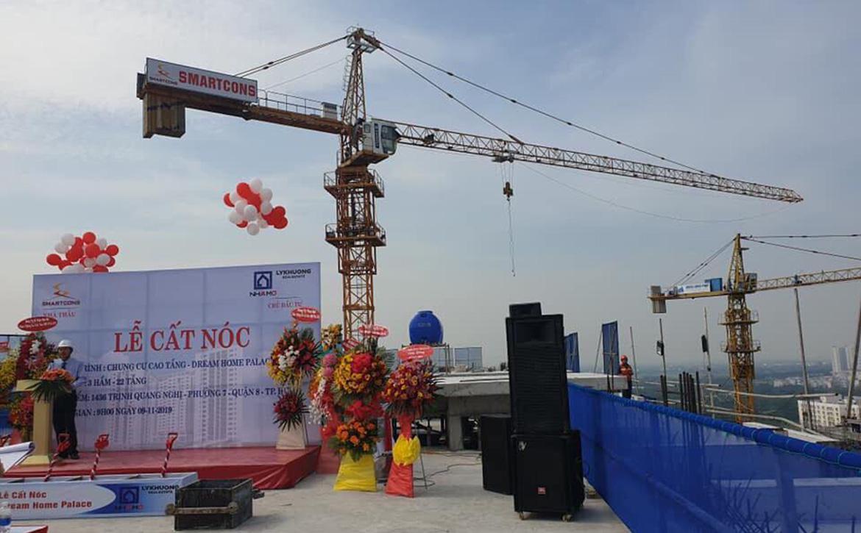 Tiến độ dự án căn hộ chung cư Dream Home Palace Quận 8 Đường Trịnh Quang Nghị chủ đầu tư Nhà Mơ