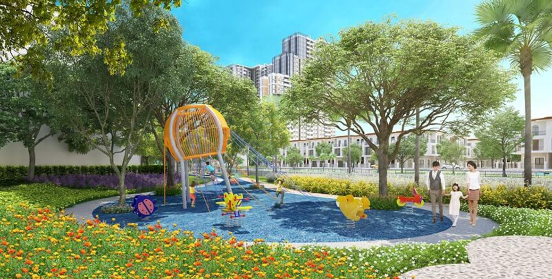 Mặt bằng tiện ích dự án nhà phố biệt thự Senturia Nam Sài Gòn Bình Chánh Đường Nguyễn Văn Linh chủ đầu tư Tiến Phước