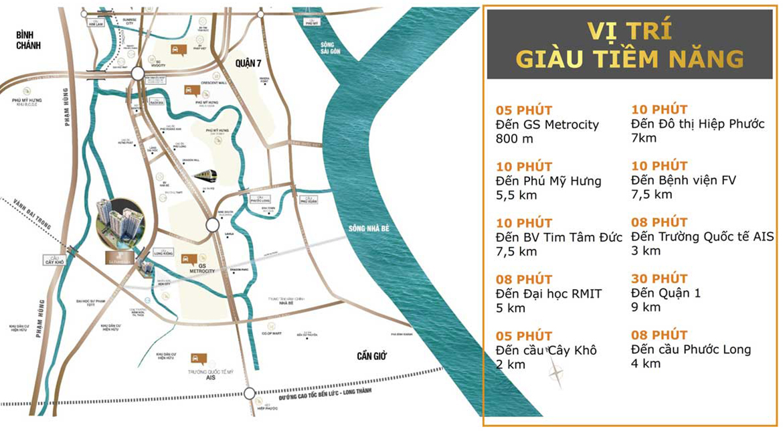 Vị trí địa chỉ dự án căn hộ chung cư La Partenza Nhà Bè Đường Lê Văn Lương chủ đầu tư Khải Minh Land
